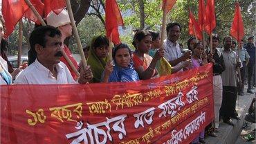 Kampagne für Textil-Beschaeftigtenrechte