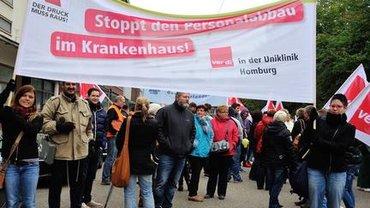 Demonstration der Krankenhausbeschäftigten im Saarland