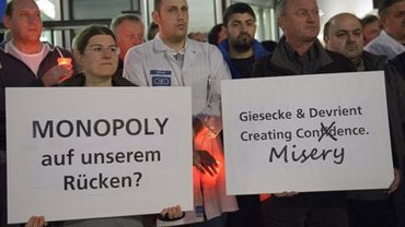 Beschäftigte bei Giesecke & Devrient fordern Erhalt der Arbeitsplätze