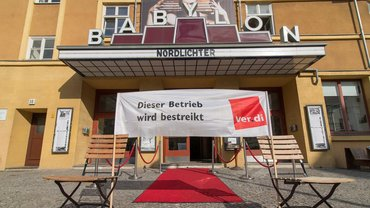 Ende der Vorstellung – Streik im Kino Babylon in Berlin