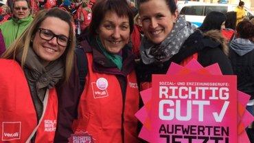 Streik des Sozial- und Erziehungsdienstes am 27.3.2015 in Saarbrücken
