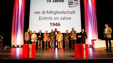 Ehrung der Jubilare in der Gebläsehalle in Neunkirchen