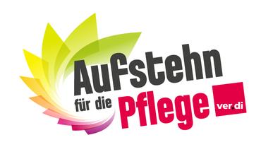 Logo mit den Worten Aufstehen für die Pflege