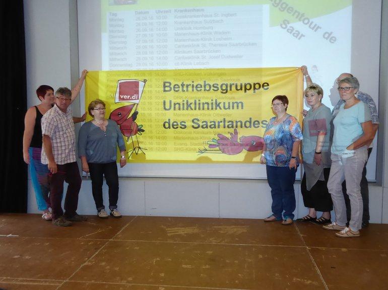 Die Uniklinik war mit der größten Delegation in Kirkel vertreten.