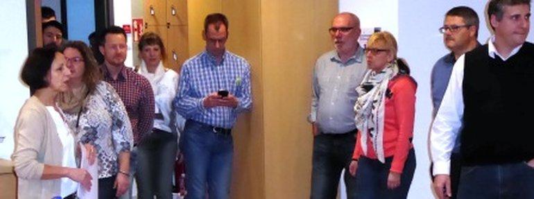 Die Kolleginnen schauten sich das geriatrische Kompetenzzentrum in der DRK Klinik Mettlach an.