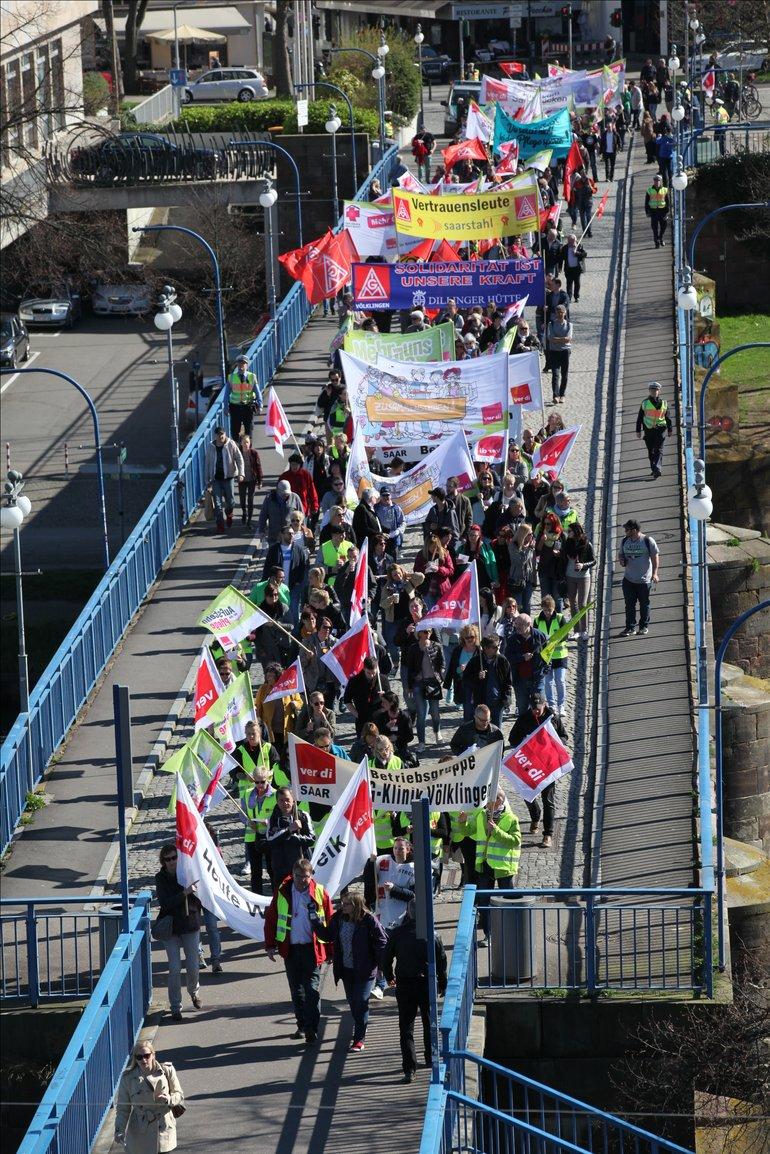 Demo im März in Saarbrücken