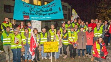Streikauftakt Marienkrankenhaus Ottweiler am 11.10.2017