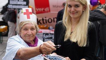 "Rente? ver.di-Seniorin bietet ""sozialverträgliche Hinscheidepillen"" an"