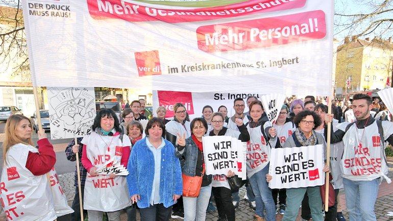 Die ver.di Betriebsgruppe des Kreiskrankenhauses St. Ingbert kämpft für Entlastung