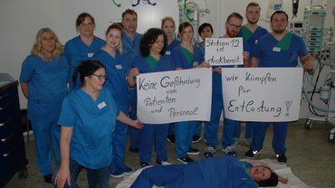 Die Chirurgische Intensivstation der SHG-Völklingen meldet sich streikbereit