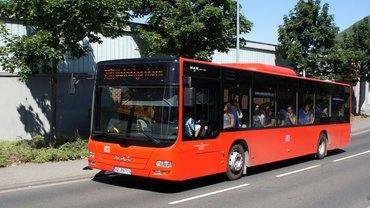 Bild eines Busses in Bingen (DB Regio Bus)