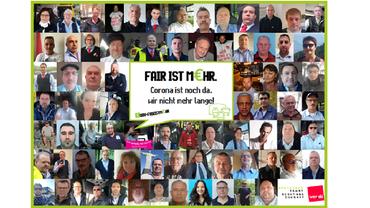 Fotokollage der Busfahrerinnen und Busfahrer aus Rheinland-Pfalz