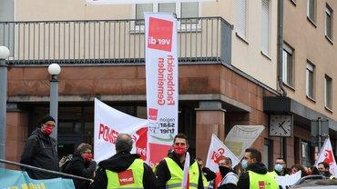 Warnstreik in Heusweiler